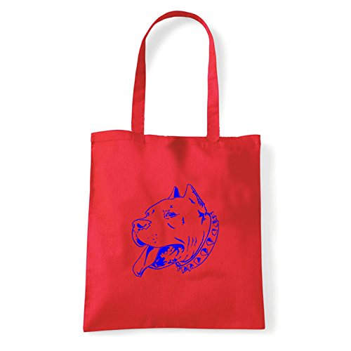 Art T-shirt, Borsa Shoulder pitbull Rosso