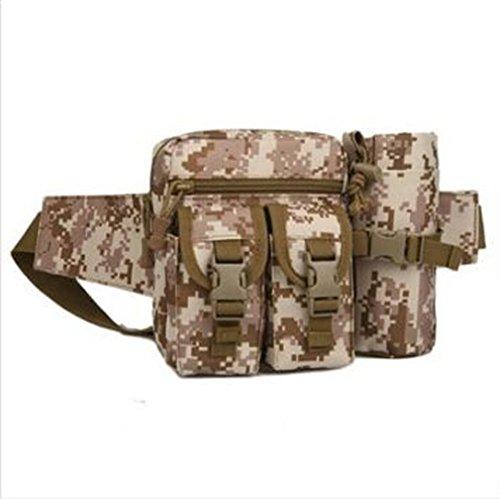 Outdoor Gürteltasche Bauchtasche Hüfttasche Nylon Tasche Sporttasche Frautasche (Schlamm Farbe) Wüsten Farbe