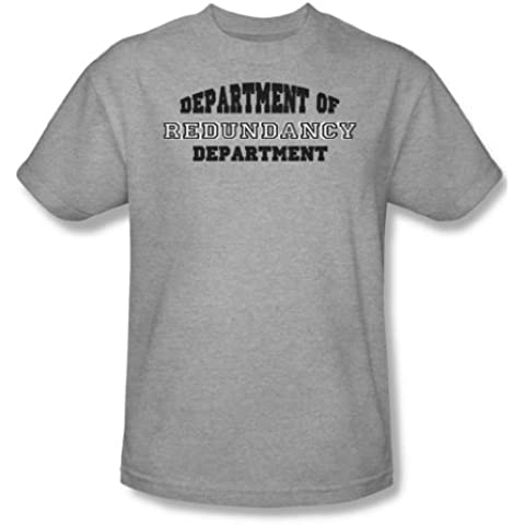 Departamento de la redundancia - adultos Heather manga corta T-shirt para hombres