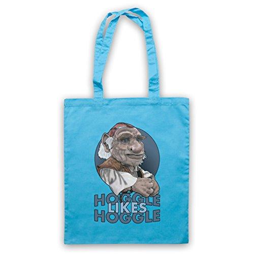 Inspiriert durch Labyrinth Hoggle Likes Hoggle Inoffiziell Umhangetaschen Hellblau