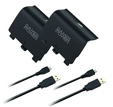 GamesPower Twin Battery Pack and Recharge Cables - XB781 (Xbox One)