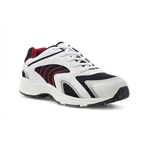 tick-mens-white-mesh-lace-up-trainer-size-9-uk-white