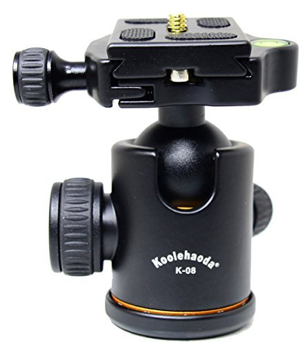 koolehaoda K-08 Aluminium Kamera Stativ Kugelkopf mit Schnellwechselplatte für DSLR Kamera-Stativ -