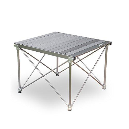 Outdoor Klapptisch Aluminium Ultralight Picknick Camping Grill Tisch (doppelte Farbe Optional) ( Farbe : Silber )