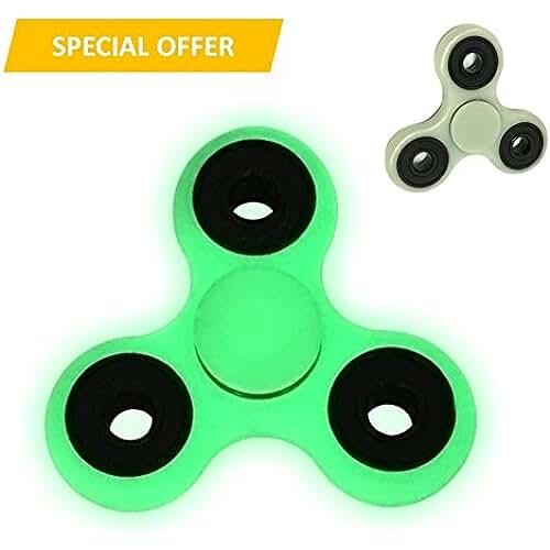 fidget spinner el nuevo juguete de moda EpochAir Hand Spinner Fidget Fluorescente que Brilla en la Oscuridad, Juguete Luminoso Anti Ansiedad para Niños Jóvenes Adultos, Blanco