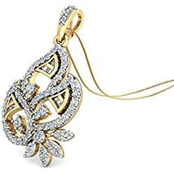 PC Jeweller The Aiysh 14KT Yellow Gold & Diamond Pendant for Her