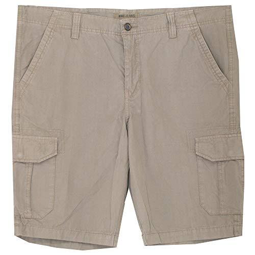 Mac, Tommy, Kurze Jeans Shorts Bermudas, Gabardine, Taupe, W 38 [21116]
