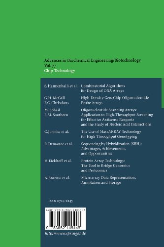 Chip Technology: Volume 77 (Advances in Biochemical Engineering/Biotechnology)