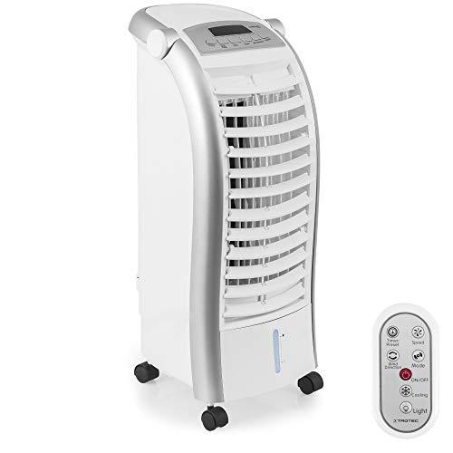 Trotec PAE 25 Rafraîchisseur d'air/Ventilateur sur roulettes avec Différents Modes de Fonctionnement et Fonction humidificateur (4 Niveaux de Puissance, 65W, Télécommande, Écran LED)'