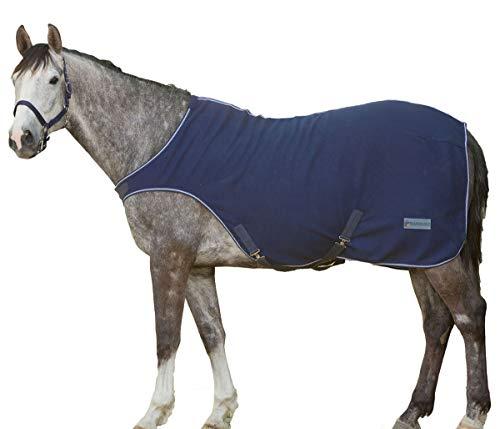 Fleece Führmaschinendecke Führanlagendecke Walkerdecke Nierendecke für Pferde dunkelblau, Größe: 145 cm