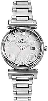 Mathey Tissot Elegance Women's White Dial Stainless Steel Band Watch - D4