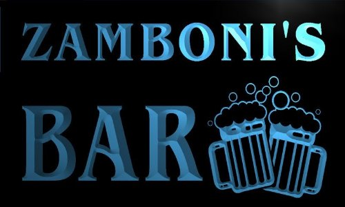 w056822-b-zamboni-name-home-bar-pub-beer-mugs-cheers-neon-light-sign