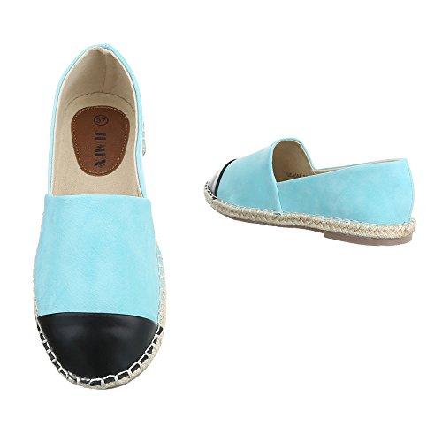 Damen Halbschuhe Schuhe Slipper Loafer Mokassins Flats Slip On Schwarz Elfenbein Blau Pink Grau Beige Weiß Gelb 36 37 38 39 40 41 Hellblau
