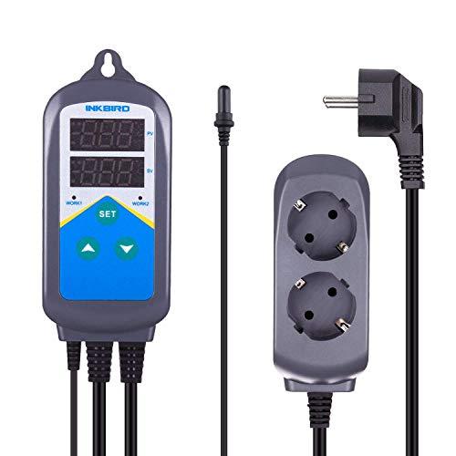Inkbird ITC-306T 220V Heizungs-Temperaturregler mit Aquariumsensor speziell für Aquarium, Marine Vivarium (Aquarium Thermostat)