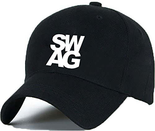 Bonnet Casquette Snapback Baseball WILDLIFE OMG 1994 Hip-Hop en Noir / Blanc avec les ASAP Bad Hair Day