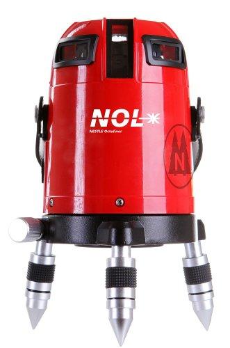Nestle 16100001 Octoliner, Linienlaser mit 360 Grad Horizontalline, 4 Vertikallinien, Lotpunkt unten, IP54, ± 1.5 mm auf 10 m, Reichweite 30 m