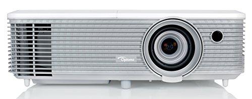 Optoma EH345 DLP-Projektor (1080p Beamer, 1920 x 1080 Pixel, 3200 ANSI Lumen, Kontrast 22,000:1, Full HD, HDMI, VGA, 1,3x Zoom, Full HD) weiß