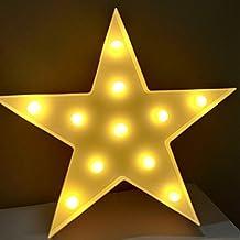 Lámparas decorativas, Decoración Iluminación Lámpara de mesa de luz LED Iluminación de Navidad Decoración de fiesta Lámpara de la habitación de los niños (Estrella)