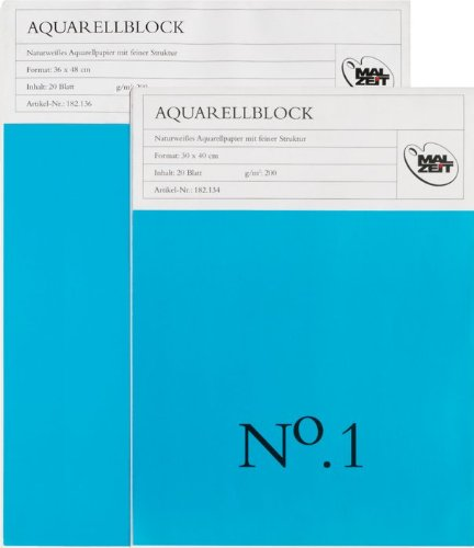 182136-2 - Doppelpack : Aquarellblock No.1 - 36 x 48 cm - 20 Blatt - 200 g/m²