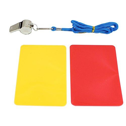 Smart Planet Schiedsrichter Spiel Set rote und gelbe Karte, Trillerpfeife mit Schnur Karten rot Gelb zum Spielen für Kinder