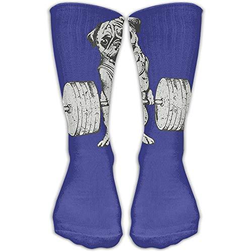 YuanHu Socken Mops Gewichtheben Damen & Herren Socken Fußball Socken Sport Schlauch Strümpfe Länge