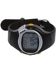 SODIAL(R) Nuevo pulso Deporte Calorias monitor del ritmo cardiaco del contador de fitness reloj de pulsera Negro