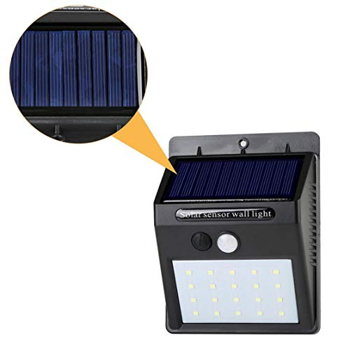 Kaemma 20 LED Luces solares Sensor Movimiento Luz