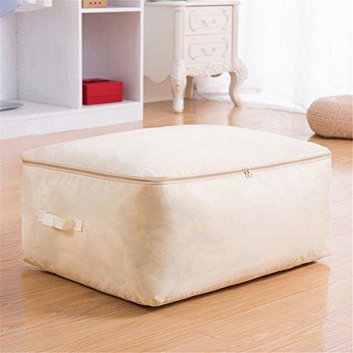 Kleideraufbewahrung Aufbewahrungstasche Bettdecken und Kissen Decken Betten Bettwaren Kissen perfekte Tragetasche oder Aufbewahrungstaschen auch für Stillshine (L: 60 * 50 * 24cm, Weißer Reis)