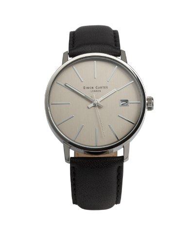 simon-carter-wt1905-grey-montre-homme-quartz-analogique-aiguilles-luminescentes-bracelet-cuir-noir