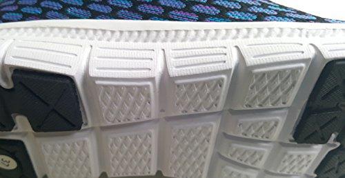 GIBRA® Damen Sportschuhe, sehr leicht und bequem, blau/schwarz/lila, Gr. 36-41 blau/schwarz/lila