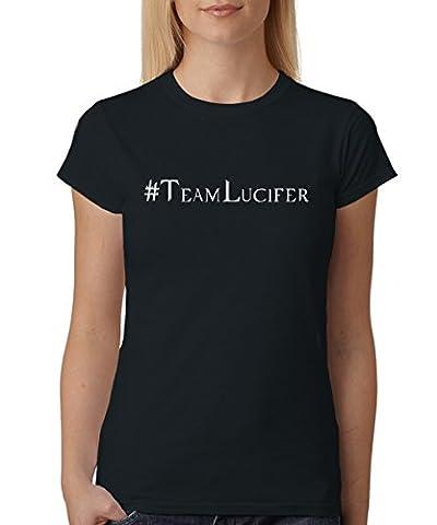 -- Hashtag Lucifer -- Girls T-Shirt Schwarz, Größe XXL