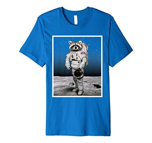 Lustiges Waschbär T-shirt Astronauten Kostüm