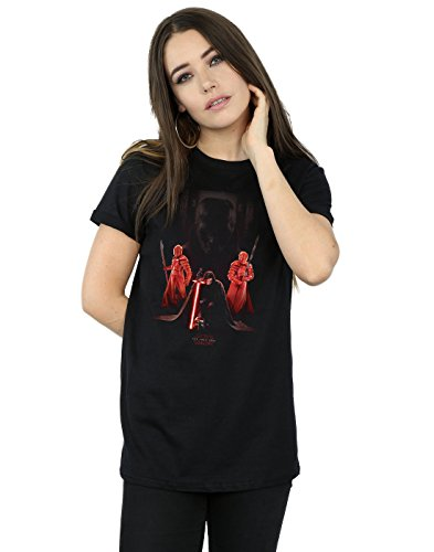 Star Wars mujer The Last Jedi Kylo Ren Kneeling Camiseta Del Novio Fit XXX-Large Negro