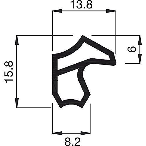5 Meter - GedoTec Stahlzargendichtung grau Türzargen-Dichtung M 2246 | Falzbreite 12 mm |...
