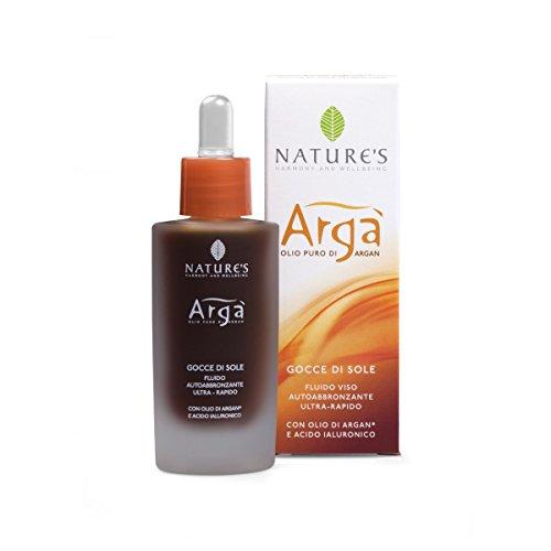 Nature's argà gocce di sole fluido viso autoabbronzante ultra rapido con olio di argan 30 ml