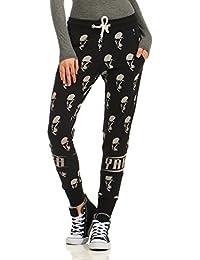 Yakuza Mujeres Pantalones / Pantalón deportivo Allover Skull