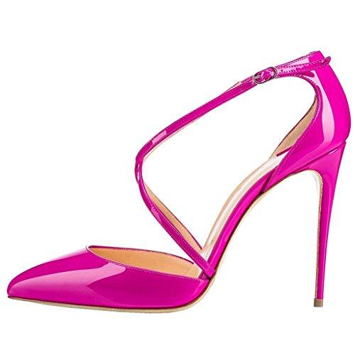 Edefs - Chaussures À Talons Pour Femmes - Talon Stiletto - Chaussures À Bride De Cheville Rose