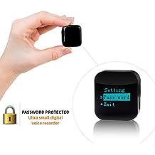 aTTo Digital Spionage Recorder - Mini Diktiergerät, Stimmenaktivierung, Passwortschutz, 24 Stunden Akku, 286 Stunden Aufnahme, 4GB, USB-Anschluss, Schwarz