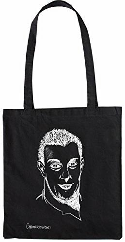 Mister Merchandise Tasche Rob Gronkowski Stofftasche , Farbe: Schwarz Schwarz