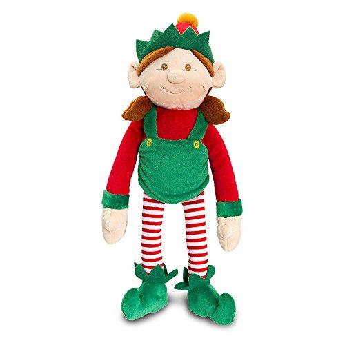 luche-Zachte speelgoed gekleed in rood & Groen met rammelaar–weihnachtsstrumpf vulstoffen ()