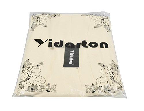 Yidarton Damen Langarm Strickpullover mit V-Ausschnitt Pulli Lose Strickjacke Knitwear Sweatshirt Jumper Tops Beige