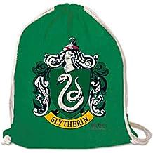 LOGOSHIRT - Harry Potter - Slytherin - Logo - Mochila Saco - Bolsa - Verde -