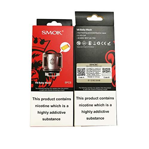 Original Smok TFV8 Baby Tank Coil V8 Baby Q2/M2/X4/T6/T8 Mesh Core Head for TFV8 BABY Beast Atomizer (TFV8 Baby Mesh)