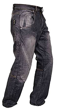 Newfacelook Denim Motorcycle Motorbike Armour Jeans Trousers With Aramid Protection Lining W32 x L30