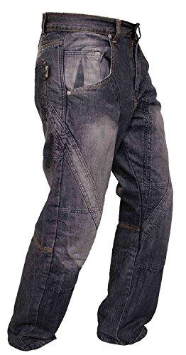 Newfacelook Schwarze Style motorradhose Rüstungen motorrad Hose Jeans Kommt mit Aramid verstärkt Schutzauskleidung -