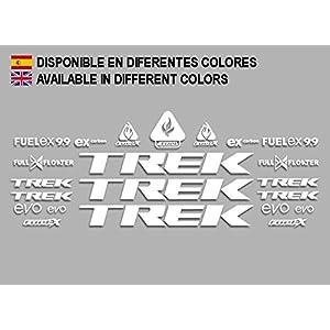 Ecoshirt MY-8C7G-FDAR Adesivi Trek Fuel Ex 9.9 Bikes F144 Stickers Aufkleber Decals Adesivi MTB BTT, Bianco