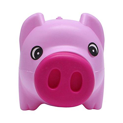 Queenbox Nettes Piggy Münzen-Geld-Glas Münzeinsparungs-Glas Kasse Kinder Geschenk Rosa