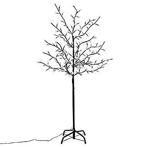 Nipach GmbH 200 LED Baum mit Blüten Blütenbaum Lichterbaum weiß 150 cm hoch Timer Trafo IP44 Weihnachtsbeleuchtung Weihnachtsdeko Lichterdeko Xmas