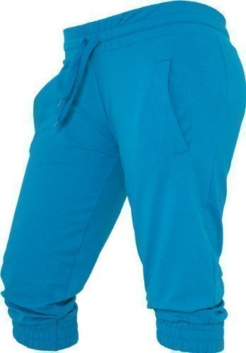 French Terry Classic Fit Pant (Urban Classics Ladies French Terry Capri TB364 (S, turquoise))