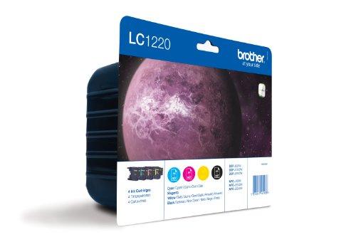 Brother-LC1220-Pack-de-4-cartuchos-de-tinta-BKCMY-duracin-estimada-hasta-300-pginas-segn-ISOIEC-24711